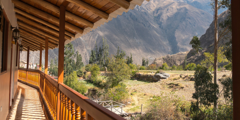 Lodge with a view - Peru Quechuas Lodge Ollantaytambo 600x400