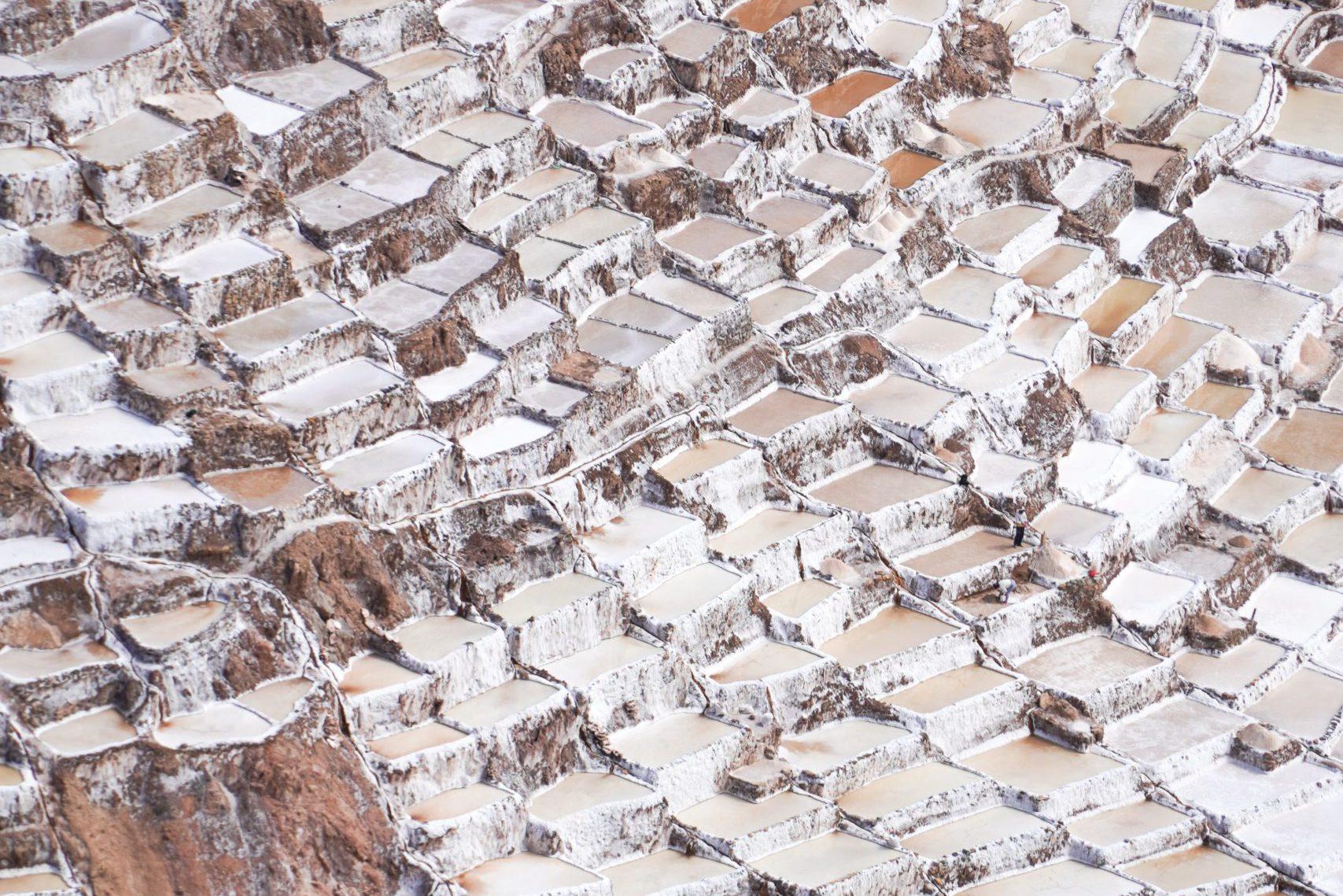 Sacred Valley at Maras Salt Mines 02 - Peru Quechuas Lodge Ollantaytambo